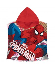 Poncho toalla Spiderman Marvel Ultimate algodon