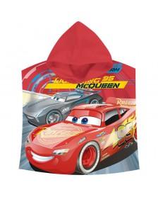 Poncho toalla Cars Disney McQueen algodon