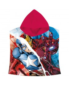 Poncho toalla Los Vengadores Marvel Capitan America Iron Man algodon
