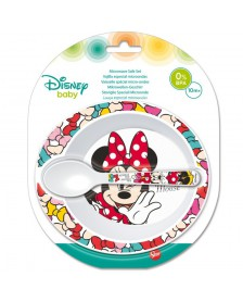 Set Cuenco cuchara DISNEY microondas Minnie Baby
