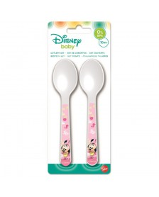 Set Cubiertos DISNEY cucharas Minnie Baby