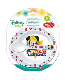 Set Cuenco cuchara DISNEY microondas Mickey Baby