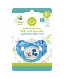 Chupete DISNEY Mickey Baby tetina fisiológica silicona luminoso