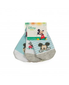 Calcetín MICKEY MOUSE bebé niño 3 pares