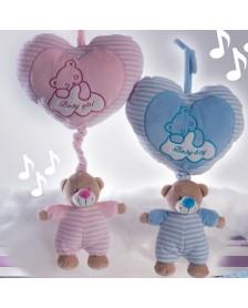 Peluche GAMBERRITOS osito corazón musical