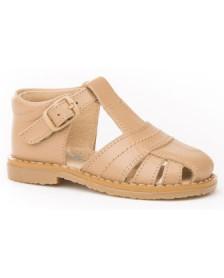 Sandalias ANGELITOS piel Camel 537 Niño