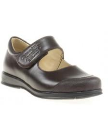 Zapato colegial ANGELITOS 463 Chocolate niña