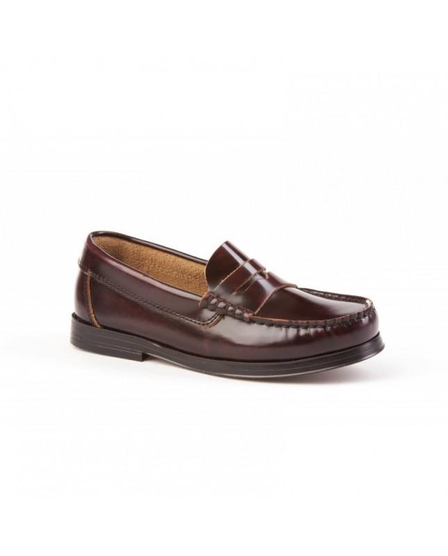 Zapatos Mocasín Colegiales ANGELITOS Castellanos 592 Burdeos niño ... a00dd85e2782