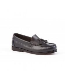 Zapatos Mocasín Colegiales ANGELITOS Castellanos Borlas 594 Negro niño