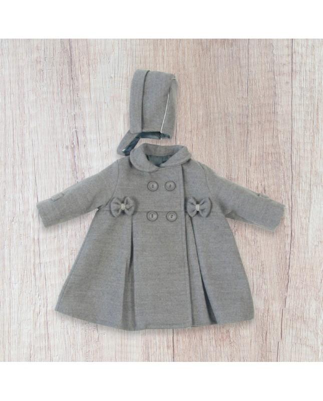 beb20494 Abrigo CREACIONES BABY-FERR botones lacitos bebé niña - elesanbebé ...