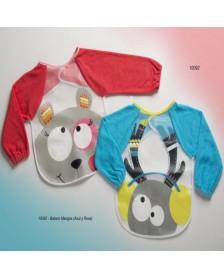 Babero bebé GAMBERRITOS 10092 plástico mangas
