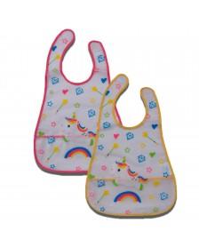 Babero GAMBERRITOS unicornio plástico 2 ud.