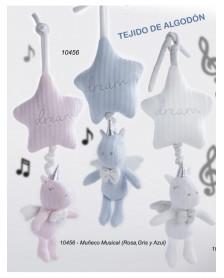 Peluche unicornio musical GAMBERRITOS estrella 10456