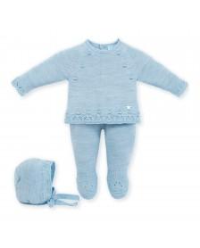 Conjunto lana capota MAC ILUSION 7800 Azul Nube