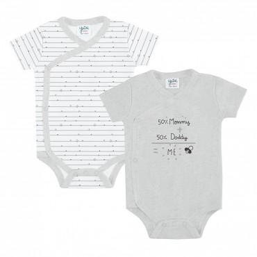 Body bebé YATSI M/C cruzado...