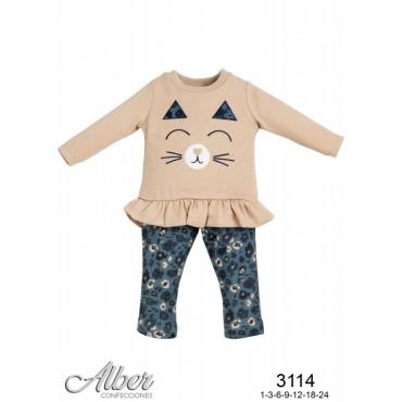 Conjunto pantalón bebé niña...